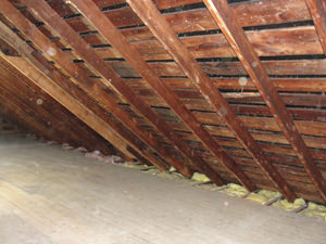 A North Dakota & Minnesota attic before installation of SuperAttic